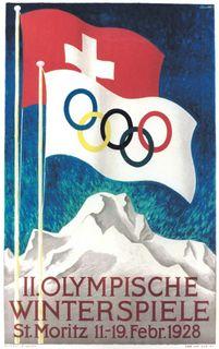 サンモリッツ大会 1928 ポスター
