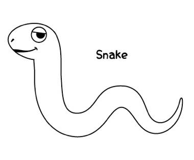 ヘビを描きましょ02