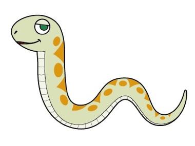 ヘビを描きましょ08