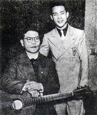 古賀政男と藤山一郎