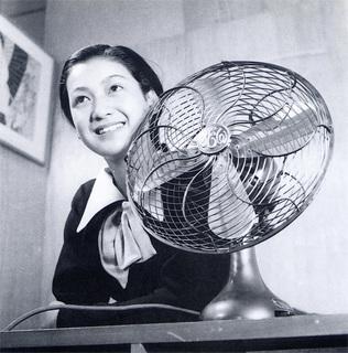 芝浦電気扇と原節子 1936