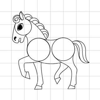馬(午)を描きましょう02