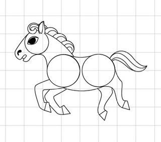 馬(午)を描きましょう03