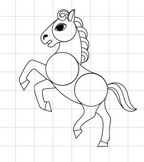 馬(午)を描きましょう04