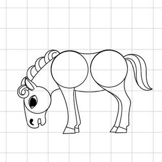 馬(午)を描きましょう05